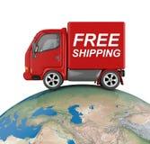 Vrachtwagen op wereld Royalty-vrije Stock Afbeeldingen