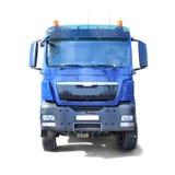 Vrachtwagen op wit wordt geïsoleerd dat royalty-vrije stock foto