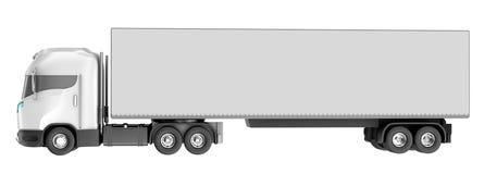 Vrachtwagen over wit Royalty-vrije Stock Foto's