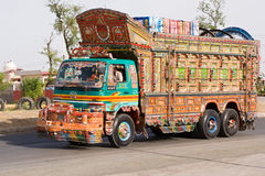 Vrachtwagen in Pakistan Royalty-vrije Stock Afbeelding