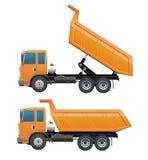 Vrachtwagen tien wiel het dumpen actie Royalty-vrije Stock Afbeeldingen