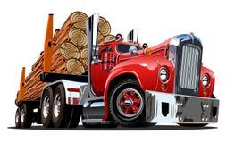 Vrachtwagen van het beeldverhaal retro registreren vector illustratie