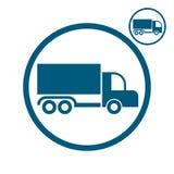 Vrachtwagen vectorpictogram Stock Foto's