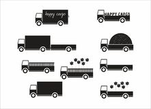 Vrachtwagen vectorreeks Stock Afbeeldingen