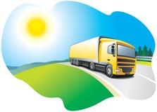 Vrachtwagen - vervoer en logistiek Stock Afbeelding