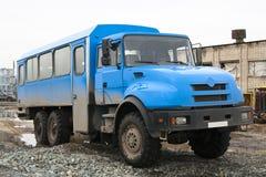 Vrachtwagen voor arbeiders Stock Foto's