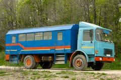 Vrachtwagen voor arbeiders Royalty-vrije Stock Foto