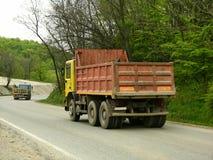 Vrachtwagen voor arbeiders Stock Afbeelding