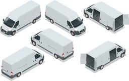 Vrachtwagen voor vervoerslading Bestelwagen voor Stock Afbeeldingen