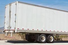 Vrachtwagenaanhangwagen Stock Afbeelding