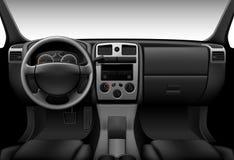 Vrachtwagenbinnenland - autodashboard Stock Afbeelding