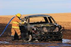 Vrachtwagenbrand Stock Afbeelding