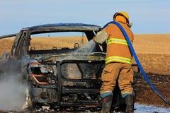 Vrachtwagenbrand Stock Afbeeldingen