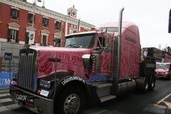 Vrachtwagencaravan Stock Afbeelding