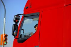 Vrachtwagenchauffeur Stock Foto