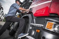 Vrachtwagenchauffeur Job Theme Royalty-vrije Stock Foto
