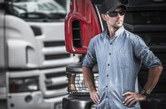 Vrachtwagenchauffeur Transport Industry royalty-vrije stock fotografie