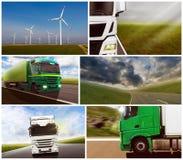 Vrachtwagencollage Stock Foto's