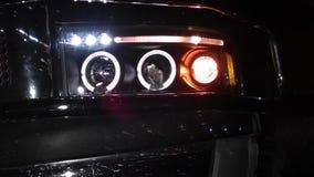 Vrachtwagenkoplampen Stock Afbeeldingen