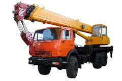 Vrachtwagenkraan Royalty-vrije Stock Afbeeldingen
