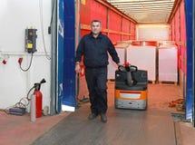 Vrachtwagenlading stock afbeelding