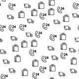 Vrachtwagenlevering Logistisch voor Opslag Naadloos Patroon royalty-vrije illustratie