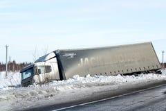 Vrachtwagenneerstorting royalty-vrije stock afbeelding