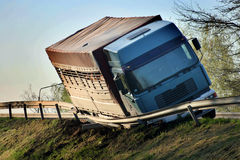 Vrachtwagenongeval Royalty-vrije Stock Foto's
