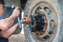 Vrachtwagenreparatie Royalty-vrije Stock Afbeelding