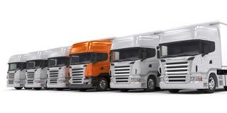 Vrachtwagens die op wit worden geïsoleerda Royalty-vrije Stock Foto