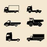 Vrachtwagens en aanhangwagens Royalty-vrije Stock Foto's