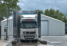 Vrachtwagens op de doucheruimte Royalty-vrije Stock Afbeelding