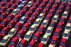 Vrachtwagens van de Changan de nieuwe fabriek Stock Foto's