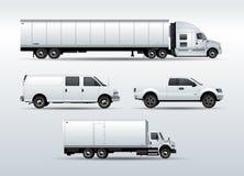 Vrachtwagensinzameling voor de vector van de vervoerslading Stock Afbeeldingen
