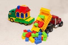 Vrachtwagenspeelgoed stock afbeelding