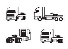 Vrachtwagentractor in verschillend perspectief royalty-vrije illustratie
