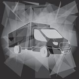 Vrachtwagenvervoer Logo Template royalty-vrije illustratie