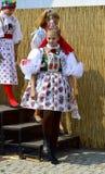 Vracov民间服装的女孩  免版税库存照片