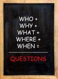 Vragen stock afbeeldingen