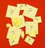 Vragen Stock Foto's
