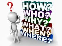 Vragen vector illustratie