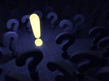 Vragen en antwoord Stock Afbeelding