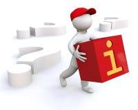 Vragen en antwoorden Stock Afbeelding