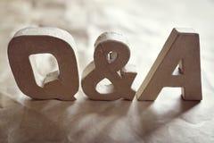 Vragen en Antwoorden stock foto