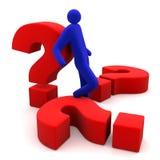 Vragen en mens Royalty-vrije Stock Afbeelding