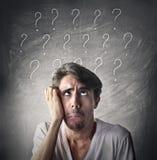 Vragen en twijfels Royalty-vrije Stock Foto's