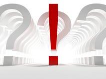 Vragen en uitroepteken Stock Foto's