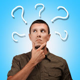 Vragen in het leven Stock Foto's
