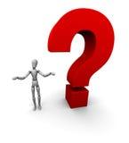 Vragen, Onzekere Verwarring, Royalty-vrije Stock Afbeeldingen