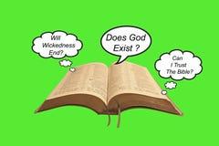 Vragen over de bijbel Stock Afbeelding
